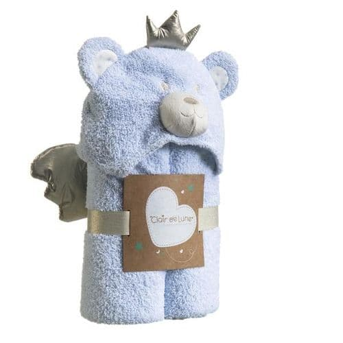 My Bear Hooded Blanket - Blue