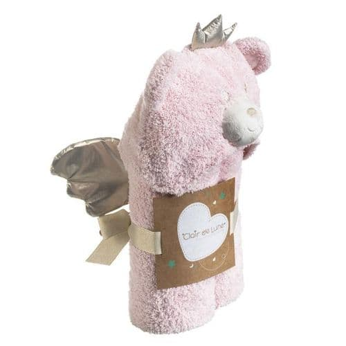 My Bear Hooded Blanket - Pink