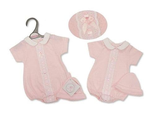 Pink Slot Ribbon Bubble with Bow