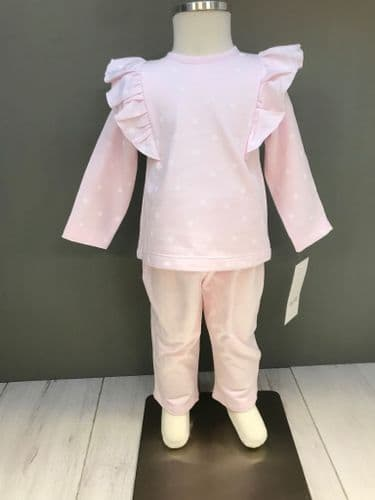 Pink Tracksuit with White Spot Print