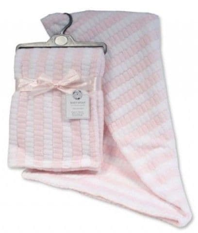 Pink & White Two Tone Jacquard Wray