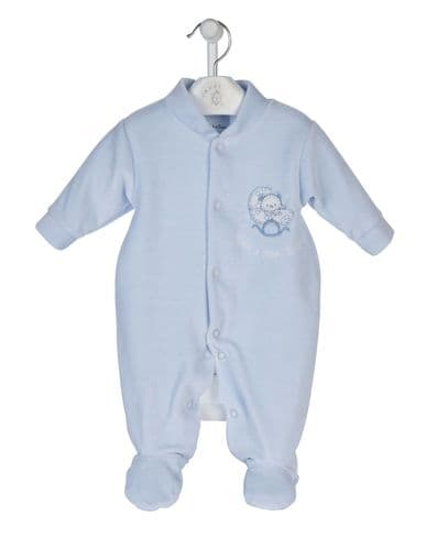 Rock a Bye Baby Velour Sleepsuit