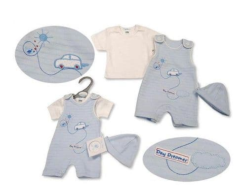 Sky Blue Day Dreamer Dungaree Set