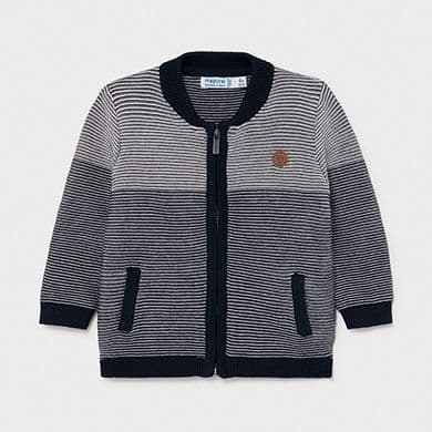 Tricot Navy Striped Jacket