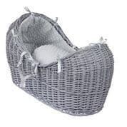 Wicker Noah Pod In Grey With Grey Dimple Liner