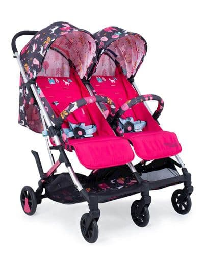 Woosh Double Stroller Unicorn Land