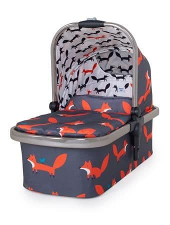 WOW XL Carrycot Charcoal Mr Fox