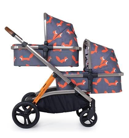 WOW XL Charcoal Mr Fox Travel System for Twins