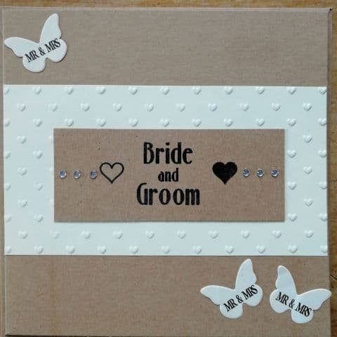 Handmade by Emma Wedding card Bride and Groom - The Soar Trading Co