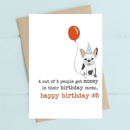 4 out of 5 people Birthday Card