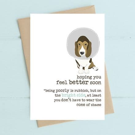 Cone of Shame - Get Well Card