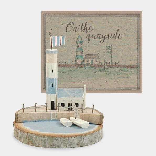East of India Lighthouse and Sail Boat Scene - The Soar Trading Co