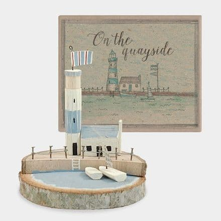 East of India Lighthouse and Sail Boat Scene