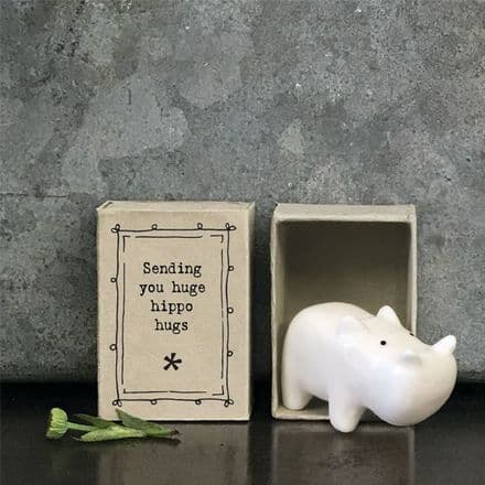 East of India Matchbox Hippo