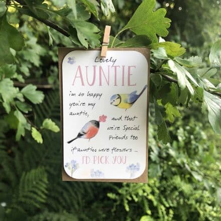 Keepsake mini card - Auntie