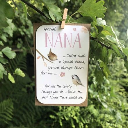 Keepsake mini card - Nana