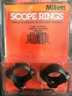 """MILLETT TURN - IN STYLE SMOOTH 1"""" RINGS"""
